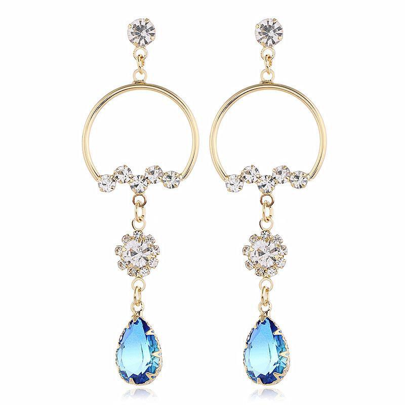 Fashion Diamond Crystal Earrings NHVA170480
