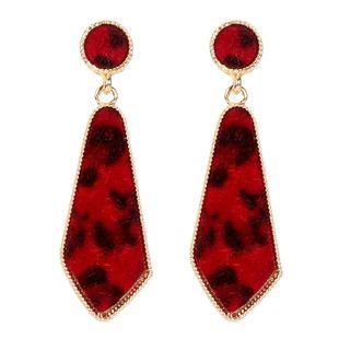 Bohemian Alloy Leopard Fleece Retro Triangle Diamond Earrings NHCT170392's discount tags