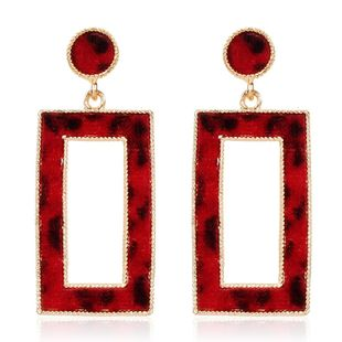 Fashion Square Leopard Earrings NHCT170394's discount tags