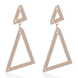 Retro triangle rhinestone diamond earrings NHCT170395's discount tags