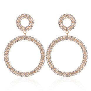 Geometric Circle Alloy Diamond Earrings NHCT170398's discount tags