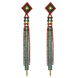 Fashion Diamond Vintage Fringe Earrings NHVA170464's discount tags