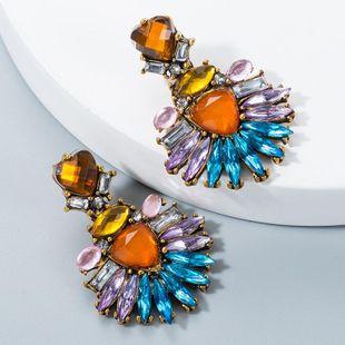 Vintage Heart Shaped Diamond Acrylic Rhinestone Earrings NHLN170318's discount tags