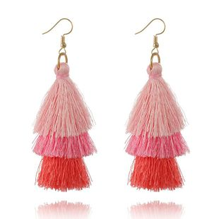 Bohemian tassel earrings NHGY170365's discount tags