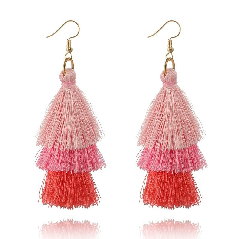 Bohemian tassel earrings NHGY170365
