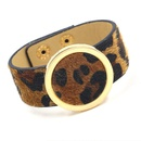 Fashion leopard horse hair PU imitation leather bracelet NHHM170346