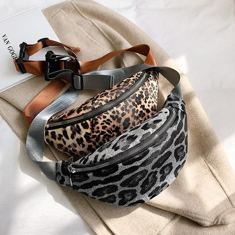 Fashion leopard personality pockets trend one shoulder casual messenger bag NHXC170600's discount tags
