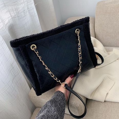 Fashion large capacity 2019 rhombic embroidery thread chain shoulder bag NHTC170521's discount tags
