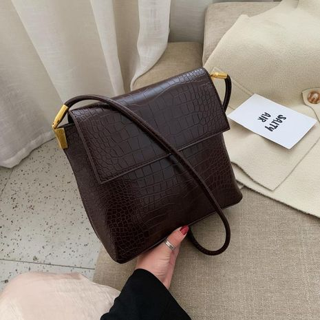 Fashiony crocodile pattern square side versatile crossbody shoulder bag NHTC170537's discount tags