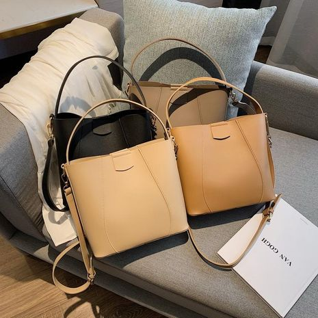 Korean version of the wild simple stitching large-capacity handbag shoulder diagonal package NHXC170605's discount tags