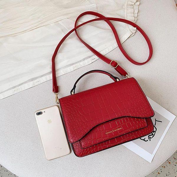 New stone pattern multi-layer small square bag organ bag shoulder Messenger bag small square bag NHTC170910