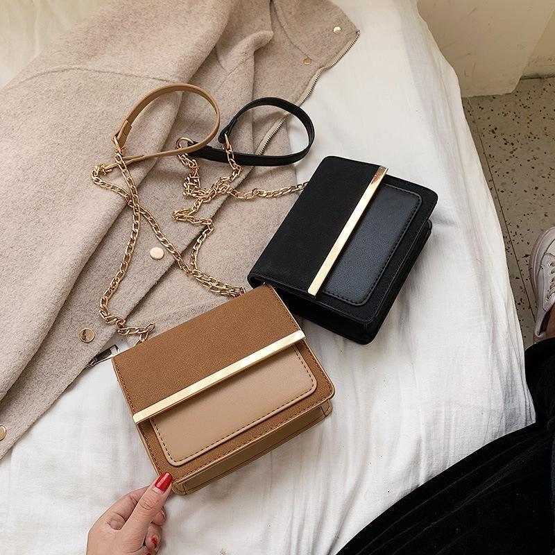 New retro matte crossbody bag simple fashion chain stitching shoulder small square bag NHPB170805