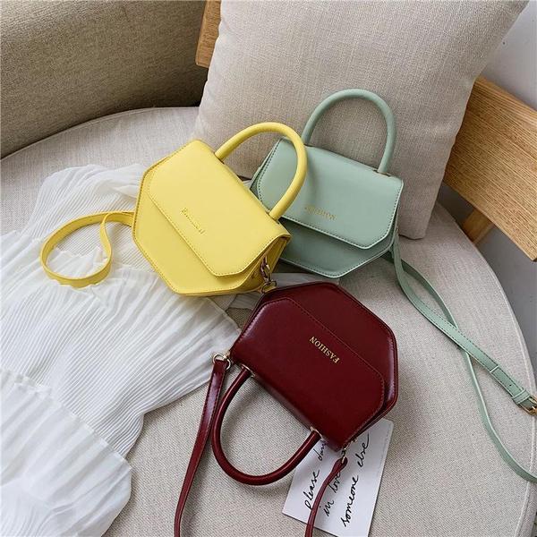Candy color polygon mini bag solid color new shoulder Messenger bag NHPB170823