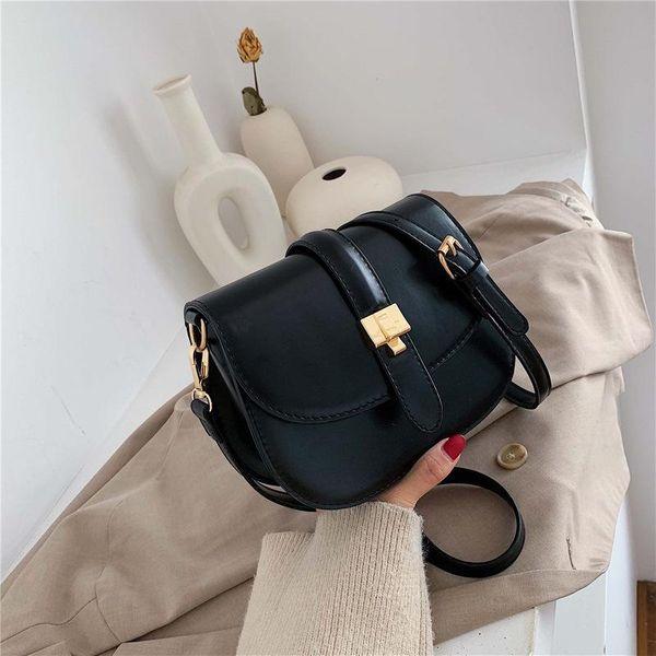New single shoulder slung bag fashion lock retro saddle bag NHTC170864
