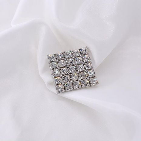 European and American style square full diamond brooch NHNT171061's discount tags