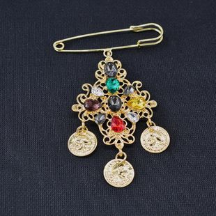 Chaqueta de traje de cabeza de belleza de color simple Broche barroco NHNT171071's discount tags