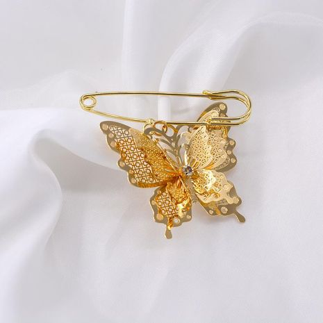 Fashion silk scarf buckle butterfly large brooch NHNT171073's discount tags