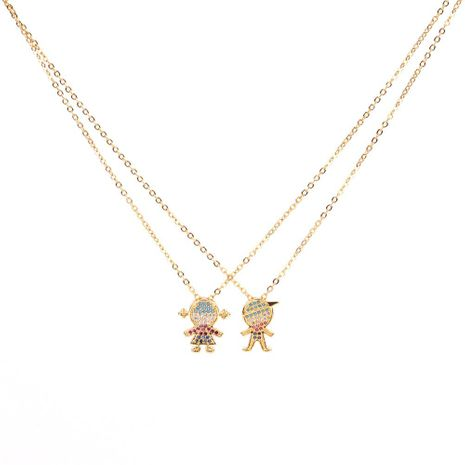 Fashion micro-studded cartoon character fashion clavicle chain necklace NHPY171171's discount tags