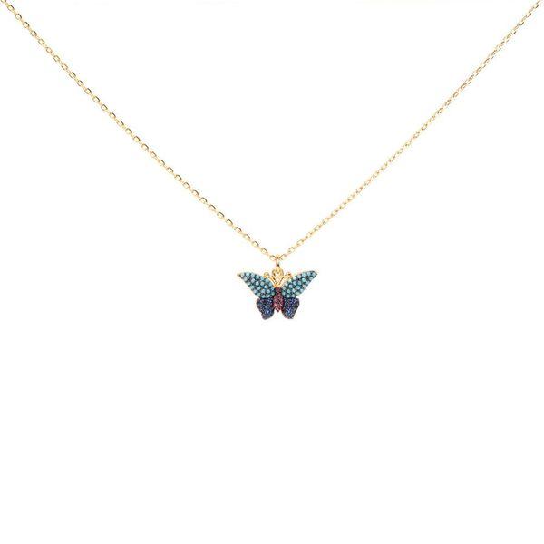 Stylish minimalist micro-set zircon necklace NHPY171173
