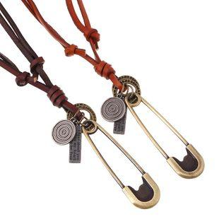 Collar de aleación de cuerda de cuero retro coreano NHPK171084's discount tags