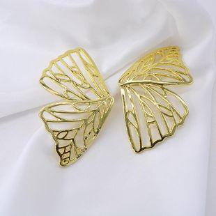 Pendientes de modelado de alas de mariposa huecas exageradas en Europa y Estados Unidos NHNT171058's discount tags