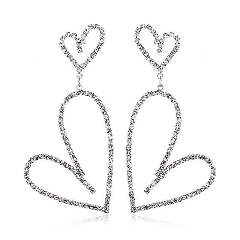 Pendientes de diamantes de aleación de moda europea y americana NHVA171195