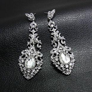 Moda goteando novia pendientes de cristal de boda NHAS171011's discount tags