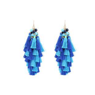 Borla bohemia pendientes étnicos de moda europea y americana NHQD171117's discount tags