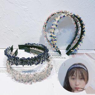 La nueva y elegante diadema de niña trenzada con ribete de viento de incienso pequeño de Corea del Sur NHOF171014's discount tags