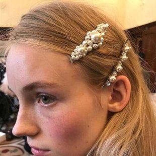 New sparkling diamond pearl tiara hair clip NHWJ171004's discount tags