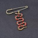 Korean version of the retro cute simple snakeshaped wild cardigan brooch NHNT171070