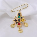 Simple color beauty head suit jacket Baroque brooch NHNT171071