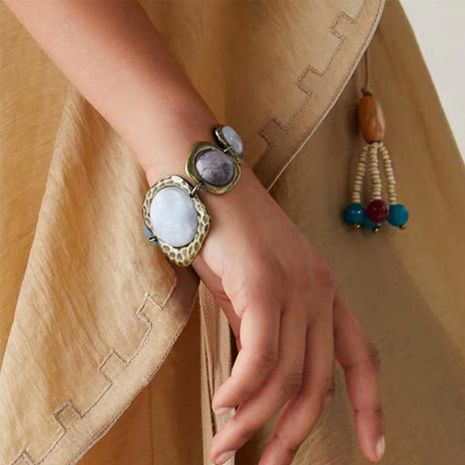 Korean retro alloy stone seaside beach set with jewel bracelet NHJQ171240's discount tags