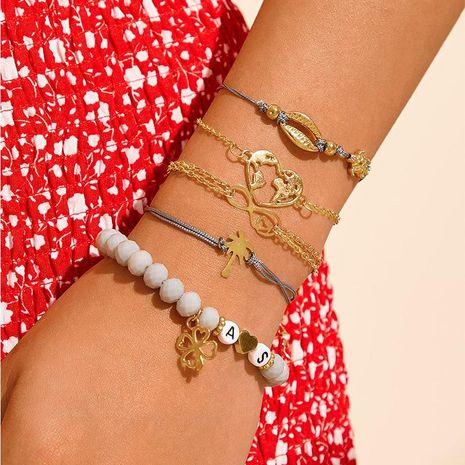 Fashion Mizhu Letter Bracelet Set Love Map Shell Necklace NHNZ171328's discount tags