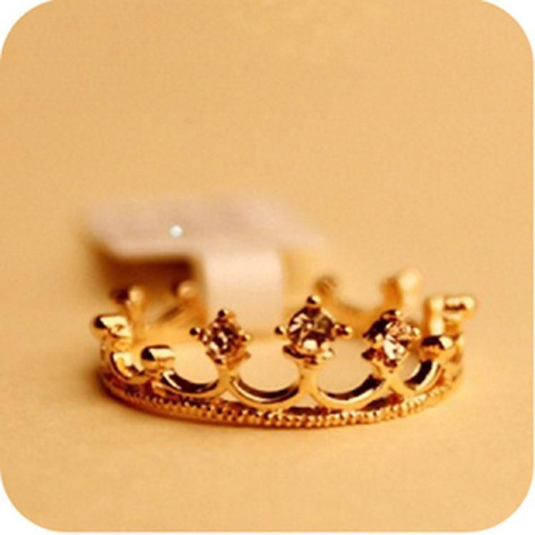 Korean version of the small pepper crown princess ring NHDP171395