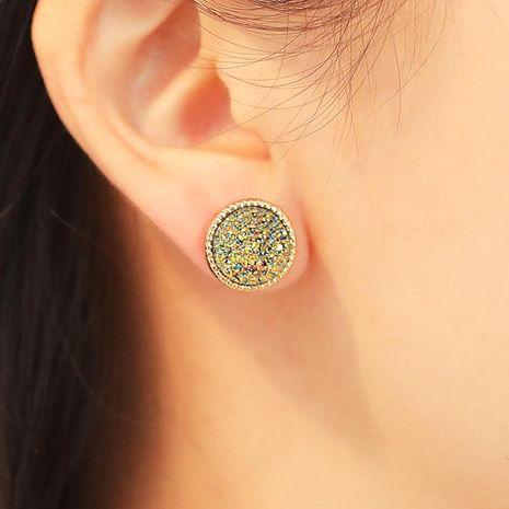 Goutte d'oreille ronde en cristal minéral NHDP171429's discount tags