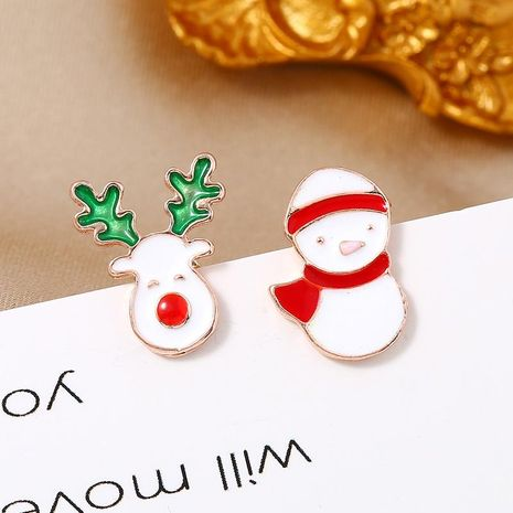 Simple fashion earrings candy color snowman Christmas gift earrings NHKQ171282's discount tags