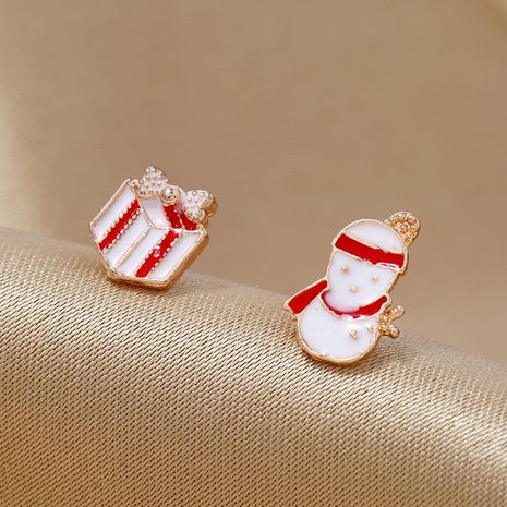Simple fashion earrings candy color snowman Christmas gift earrings NHKQ171283's discount tags