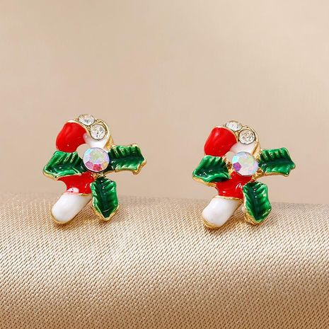 Simple fashion candy color love Christmas gift earrings NHKQ171287's discount tags