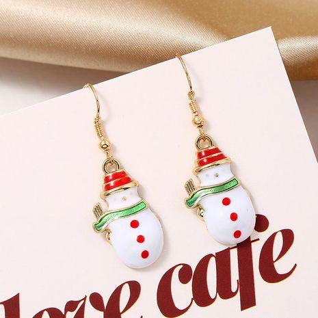 Stylish cute christmas snowman earrings doll gift NHKQ171292's discount tags