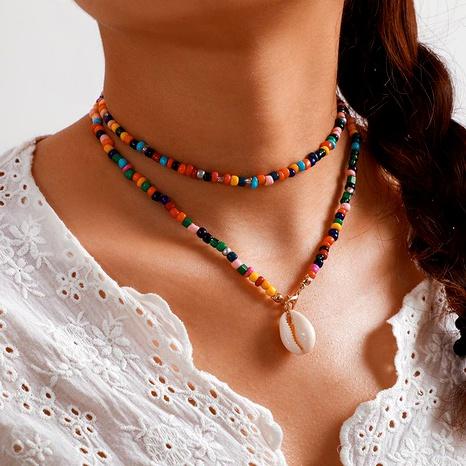 Collier de coquille de couleur bonbon de plage de coquille de perles de riz de couleur bohème NHGY171271's discount tags