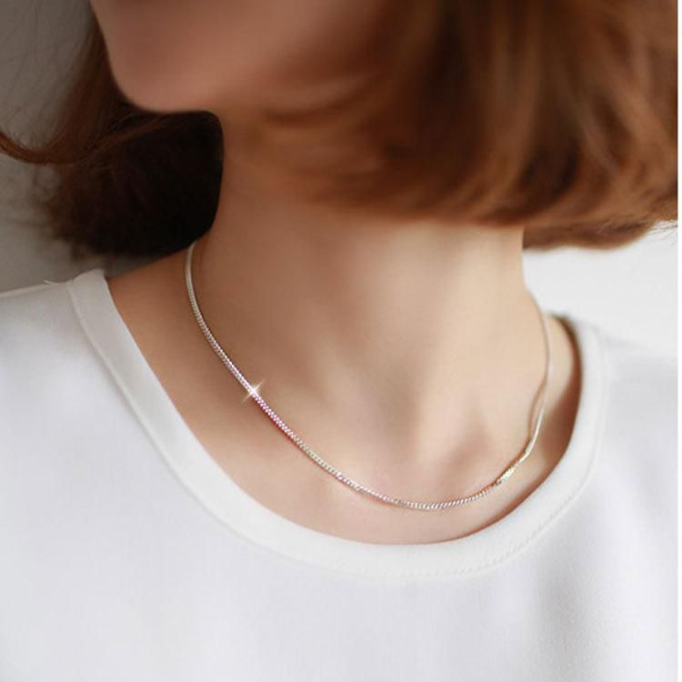 Korean short clavicle alloy necklace NHDP171409