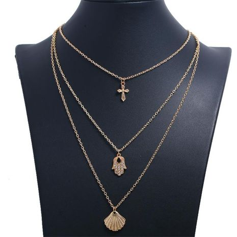 Retro Cross Multilayer Alloy Necklace NHKQ171316's discount tags