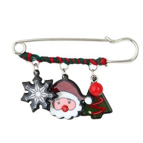 Korean temperament acrylic Christmas snowflake pine tree snowman logo brooch NHGY171252's discount tags