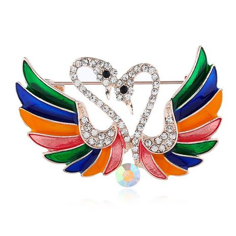 European and American fashion cartoon swan brooch NHKQ171294's discount tags