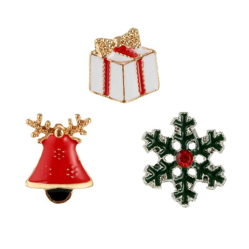 Creative Gift Snowflakes Vintage Bell Christmas Brooch NHGY171260