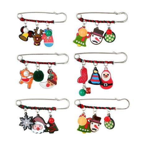 Cartoon cute acrylic christmas snowman deer hat old man head logo badge brooch NHGY171261's discount tags