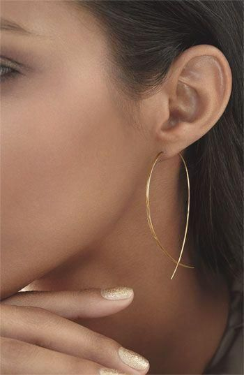 Simple copper fish-shaped handmade earrings NHXR171349