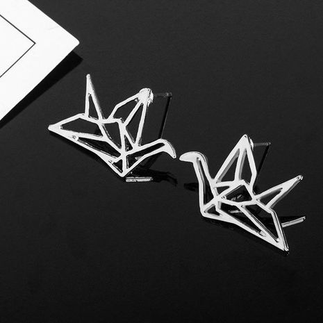 Fashion thousand paper crane ear studs simple alloy NHDP171401's discount tags