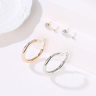 Aretes de círculo de moda NHDP171406's discount tags